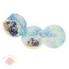 Открытка-мини Счастливого Нового года Синий фон синие шары