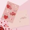 Открытка Парочка сердец, фактурная бумага В×И, 12 × 18 см