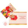 Открытка-подвеска 8 Марта тюльпаны, белый фон 11 см × 8 см