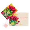 Открытка-подвеска 8 Марта тюльпаны в кувшине 11 см × 8 см