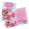 Открытка поздравительная  Розовый букетик 190*290