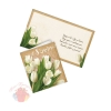 Открытка С 8 Марта, белые тюльпаны, 14 × 16 см