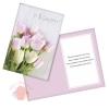Открытка С 8 Марта нежные тюльпаны на досках 12 х 18 см