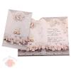 Открытка С Днем Свадьбы белые розы, кольца