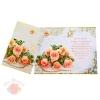 Открытка С Днем Свадьбы! розы персиковые