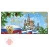 Открытка С Новым годом кремлевские башни, 10 х 21 см