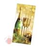Открытка С Новым Годом шампанское, тиснение, евро 12 * 18 см