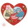Открытка-валентинка Романтичные совушки 7 х 6 см
