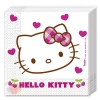 P Салфетки 33*33 см Хэллоу Китти Hello Kitty Hearts набор 20 шт