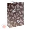 Пакет бумажный ML 25*32 см стразы Цветы на сером
