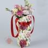 Пакет для цветов Пион благородный серия цветы, 32 x 15 х 13 см