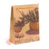 Пакет крафт Букет из лаванды 19 х 8 х 24 см