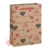 Пакет крафт Сердечки 15 см × 20 см × 6 см