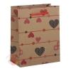 Пакет крафт Сердечки 12 см × 15,5 см × 5,5 см