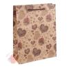 Пакет крафт Шоколадные сердечки, 24 х 8 х 33 см