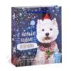 Пакет ламинат вертикальный Новогоднее поздравление 11 см × 14 см