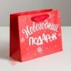 Пакет ламинированный горизонтальный «Новогодний подарок», M 30 × 26 × 9 см