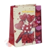Пакет ламинированный Сердца, 12 х 15 х 5 см