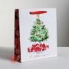 Пакет ламинированный вертикальный «Акварельный Новый год», ML 23 × 27 × 8 см