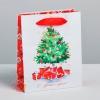 Пакет ламинированный вертикальный «Акварельный Новый год», S 12 × 15 × 5.5 см