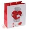 Пакет подарочный Большое сердце 26 х 36 см