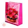 """Пакет подарочный """"Букет"""" Розовый  26*32 см"""