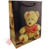 Пакет подарочный Мишка с любовью. Тиснение фольгой 31*42*12 см