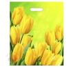 Пакет Солнечные тюльпаны, полиэтиленовый с вырубной ручкой, 45 х 38 см, 60 мкм
