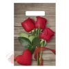 Пакет Свежие розы, полиэтиленовый с вырубной ручкой, 30 х 20 см,30 мкм