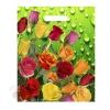 Пакет Цветочная роса полиэтиленовый, с вырубной ручкой 40 см × 34 см