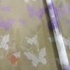 Пленка Бабочки Кружево бело-розовые, 190 г