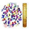Пневмохлопушка 12/30 см Металлизированные разноцветные круги, Ассорти