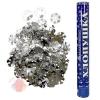 Пневмохлопушка Металлизированные снежинки 16/40 см , Серебро