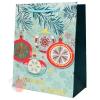 Подарочный пакет ЛЮКС с орнаментом, 18*24*10см (Игрушки на елке)