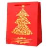 Подарочный пакет ЛЮКС с орнаментом, 18*24*10см (Золотая елка)
