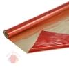 Полисилк двухцветный  золото+красный, 1 х 20 м