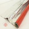 Полисилк односторонний красный+серебро, 1 х 20 м