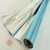 Полисилк односторонний серебряный+бирюзовый, 1 х 20 м
