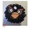 Помпоны из бумаги Черная птица (Бомб) 25 см