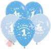 С Днем рождения 1 годик Мальчик, Ассорти Пастель, 5 ст. (12 шт.)