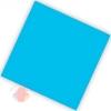 Салфетки двухслойные Делюкс голубой 25 х 25 см (20 шт.)