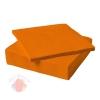 Салфетки однотонные, Оранжевые, 32*32 см, 20 шт