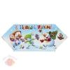 Сборная коробка-конфета Снеговички 9.3 х 14.6 х 5,3  см