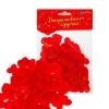 Сердечки декоративные набор 100 шт. 2 см цвет красный
