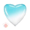 Сердце Бело-голубой градиент / White-Blue gradient