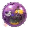Шар (18''/46 см) Круг, Колдовской Хэллоуин, Фиолетовый, 1 шт.