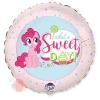 Шар (18''/46 см) Круг, My Little Pony, Лошадка Пинки Пай, Сладкий День!, Розовый