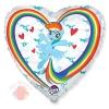 Шар (18''/46 см) Сердце, My Little Pony, Лошадка Радуга в облаках, Белый
