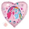Шар (18''/46 см) Сердце, My Little Pony, Лошадки Пинки Пай и Радуга, Розовый