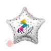 Шар (19''/48 см) Звезда, С Днем Рождения! (радужный единорог), 1 шт.